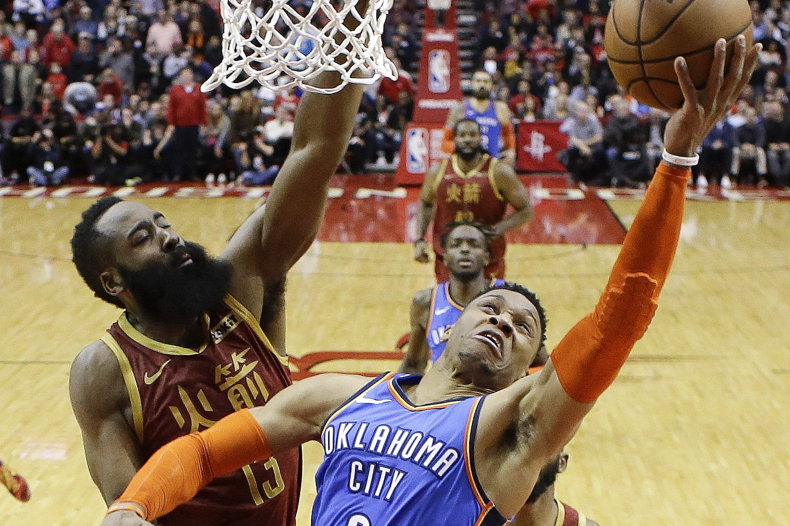 Oklahoma City Thunder guard Russell Westbrook claimed his ninth straight triple-double