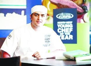 KITCHEN WHIZZ: Owner of the Red Cat and now North West Young Chef of the Year Chris Rawlinson