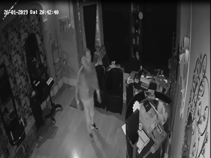 Police released this CCTV image of a mab breaking into Hair Studio, Preston New Road, Blackburn