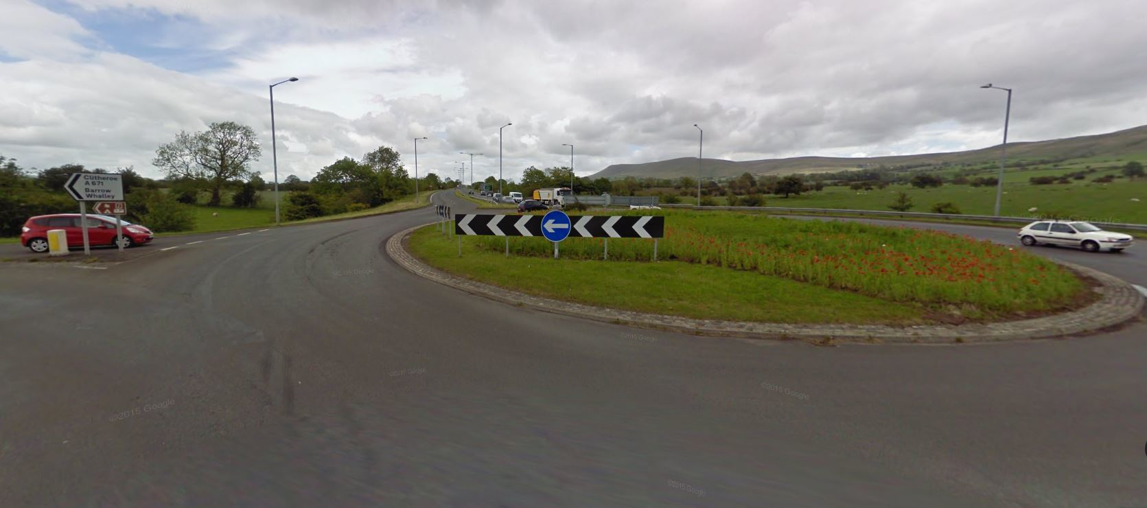 A stretch of the A59 will be closed until Monday
