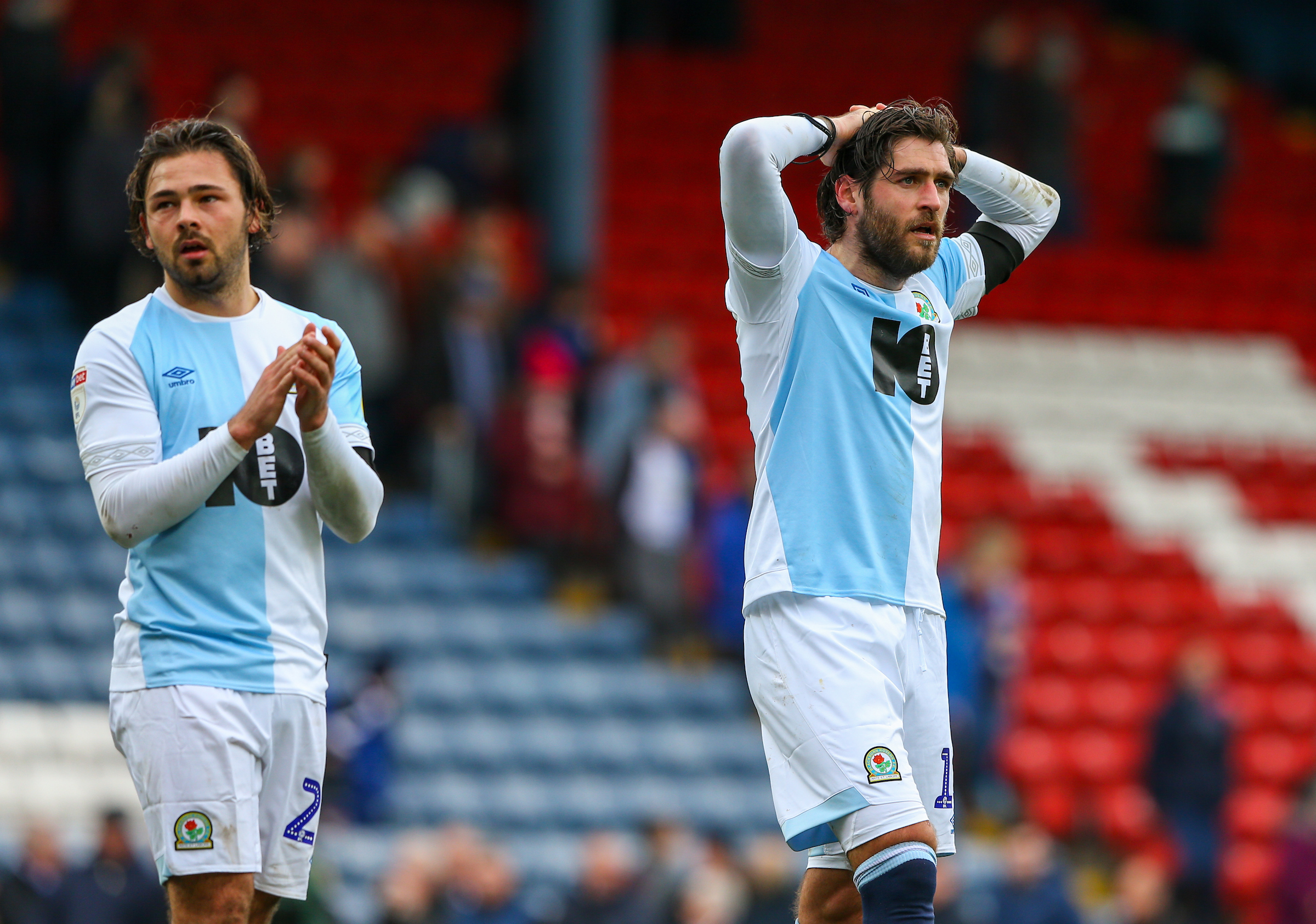 Bradley Dack and Danny Graham show their disappointment after Middlesbrough defeat