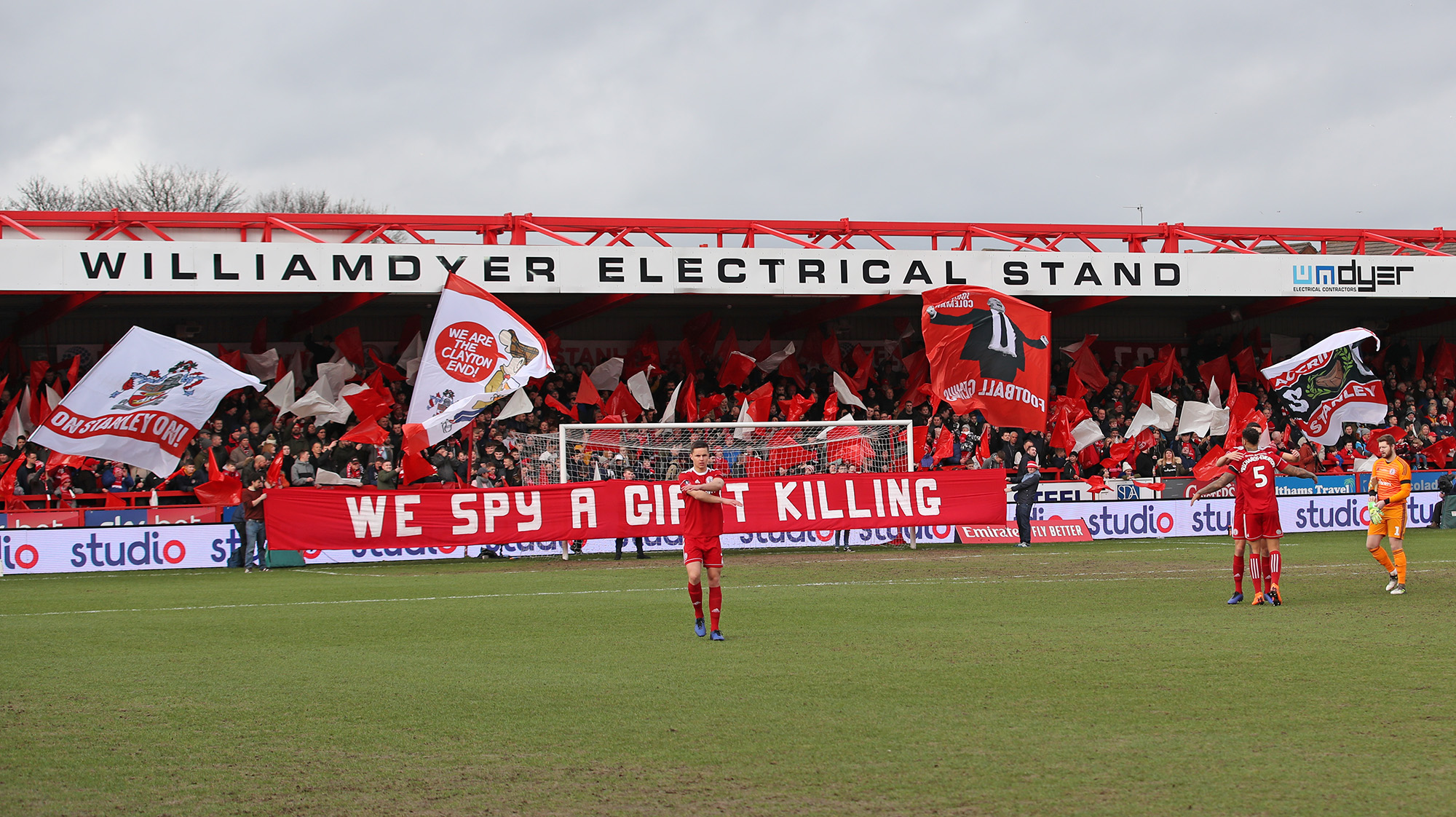 The Clayton End at the Wham Stadium