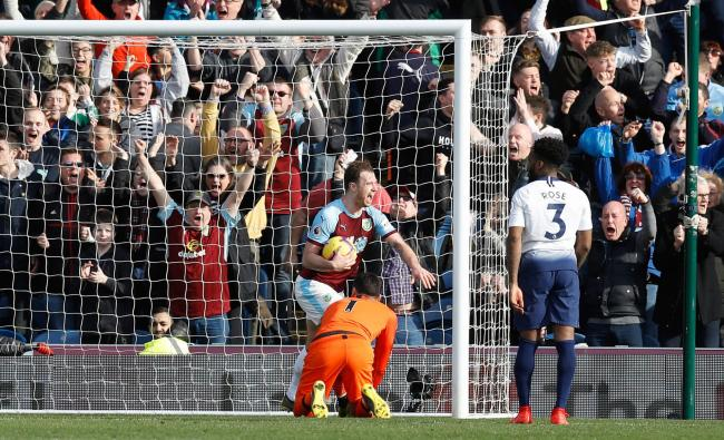 5854842692b98f Burnley s Ashley Barnes celebrates scoring his side s second goal of the  game during the Premier League