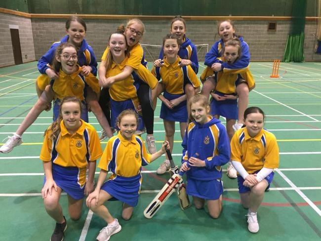 St Wilfrid's Academy girls cricket team who were crowned Blackburn with Darwen champions