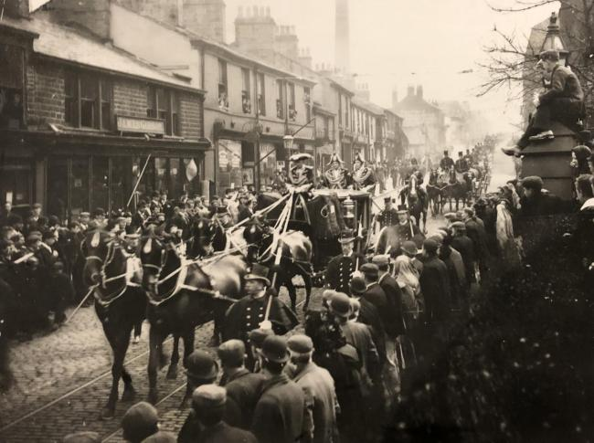 Shot of the High Sheriff Procession in 1898 in Darwen