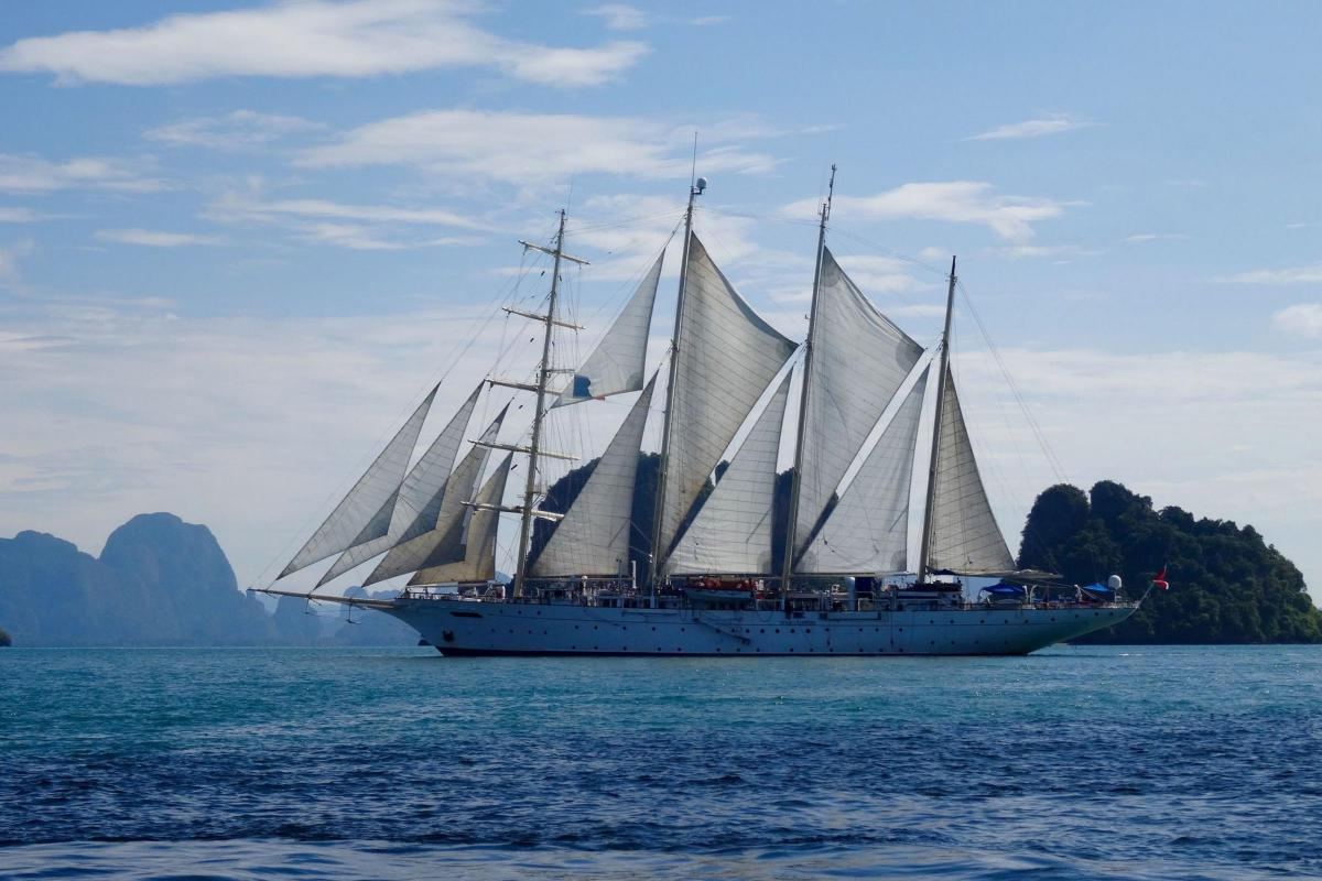 On board a sailing ship enjoying Malaysia and Thailand
