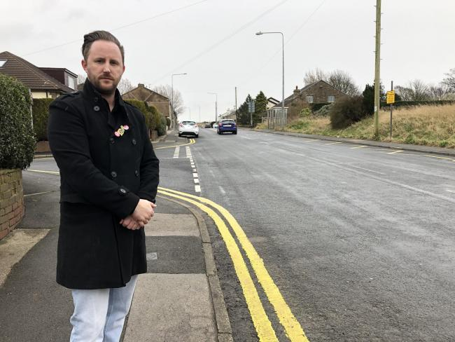 Cllr Glen Harrison insists cars are speeding down Mount St James Road