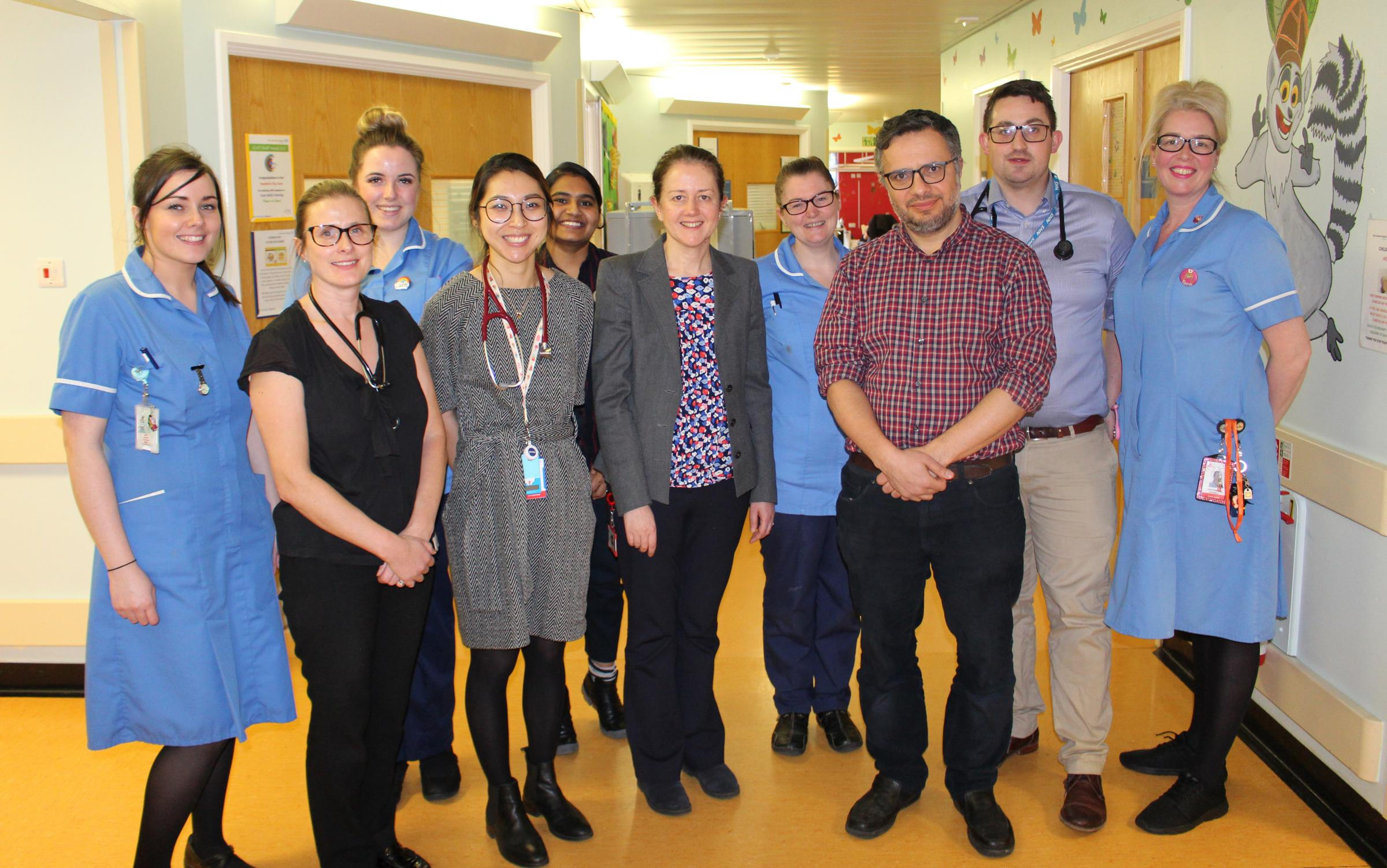 Members of the East Lancashire Hospitals NHS Trust paediatric department