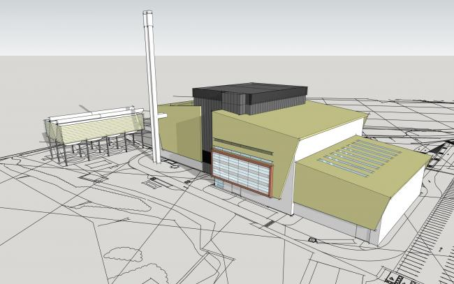 An artists' impression of the new SUEZ plant