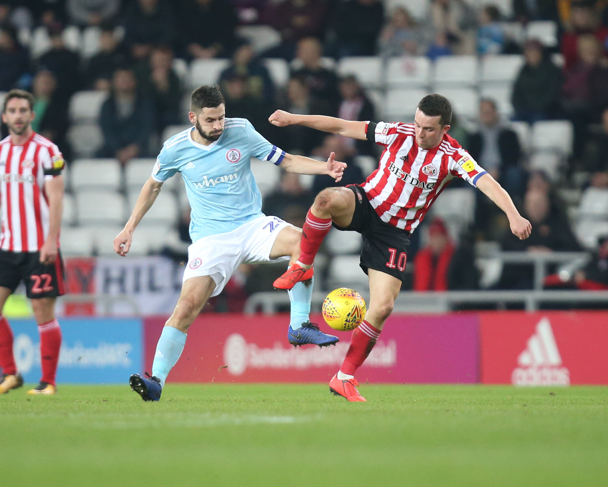 Seamus Conneely in action against Sunderland Picture: KIPAX