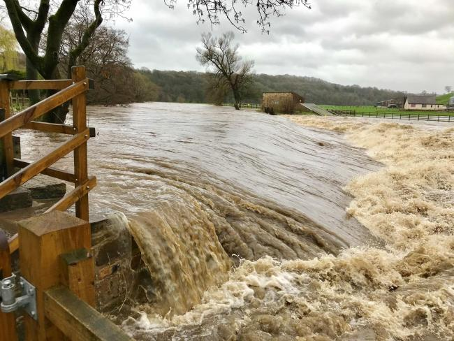 Flooding in Whalley: Whalley Community Hydro was one of many places battered by Storm Hannah last weekend