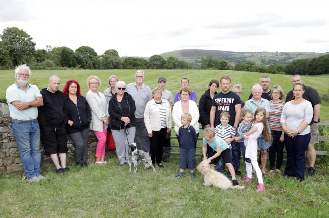 These Salterforth residents are opposing plans to build 34 homes at Hayfields.
