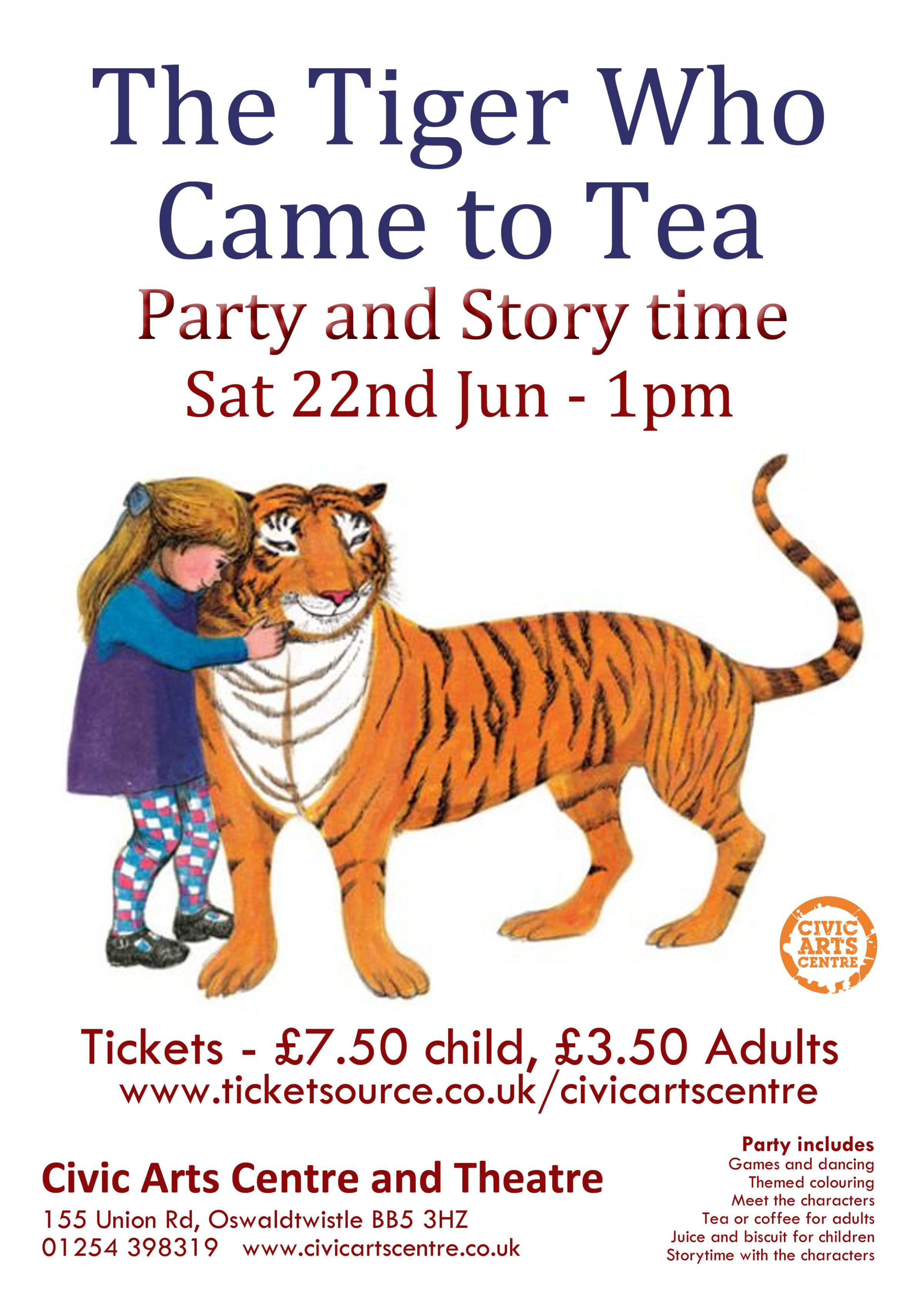 The Tiger Who Came to Tea - Party & Storytime