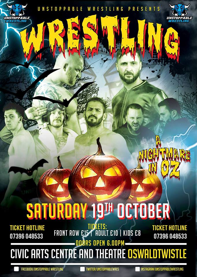LIVE Pro Wrestling in Oswaldtwistle - A Nightmare In Oz