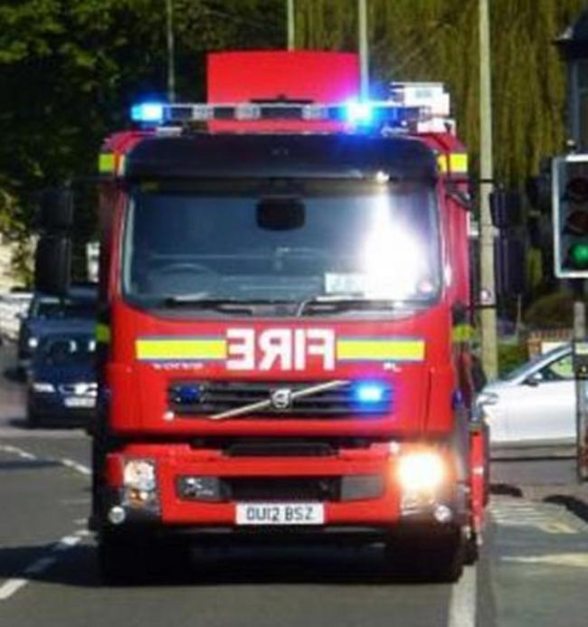 A fire at a derelict warehouse in Oswaldtwistle was put out after several hours