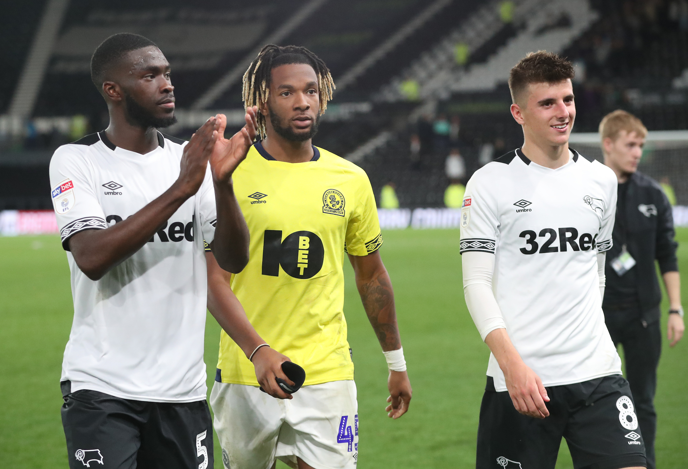 Derby on-loan Chelsea loan pair Fikayo Tomori (left) and Mason Mount (right)
