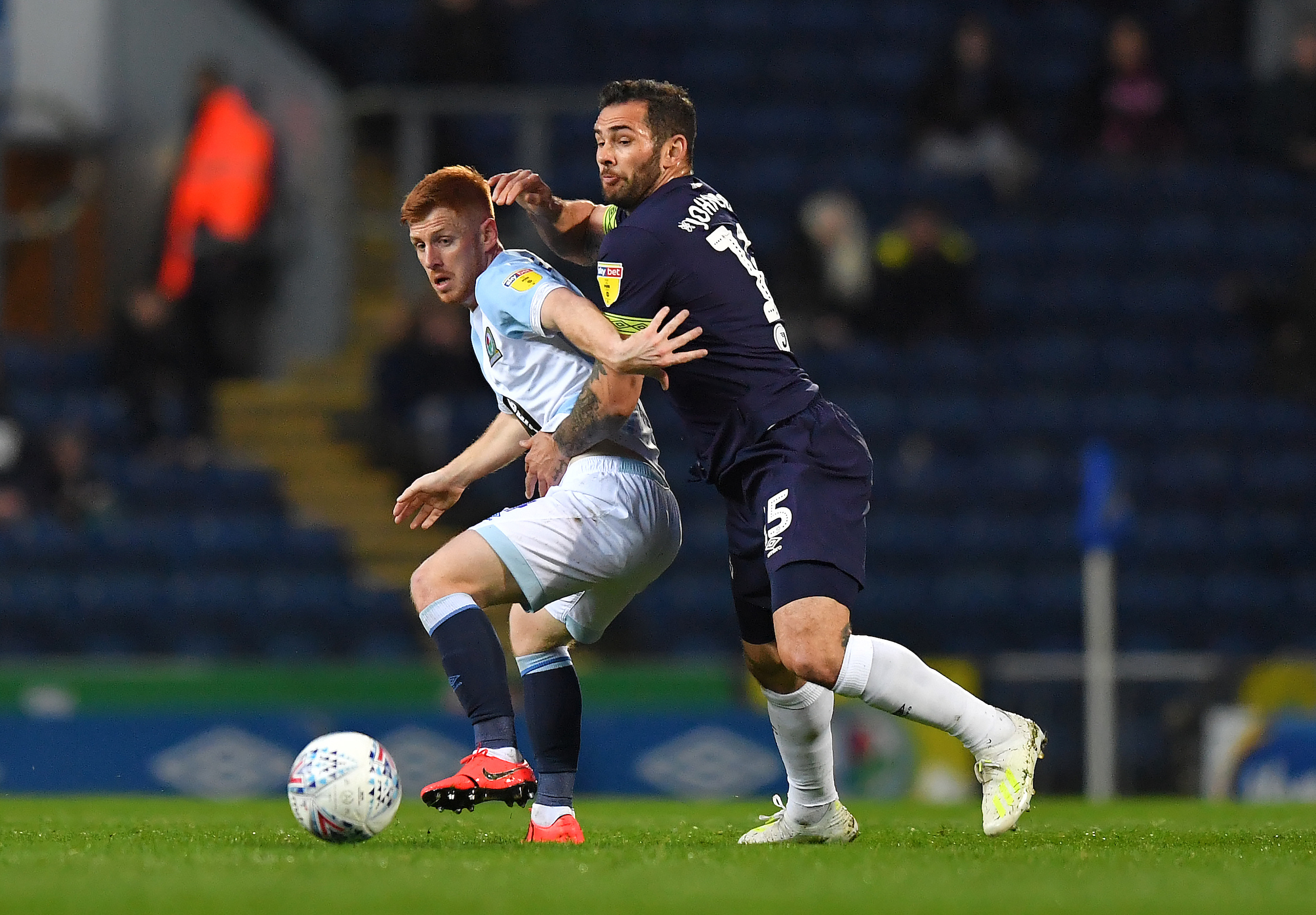 Rovers midfielder Harrison Reed impressed against Derby County