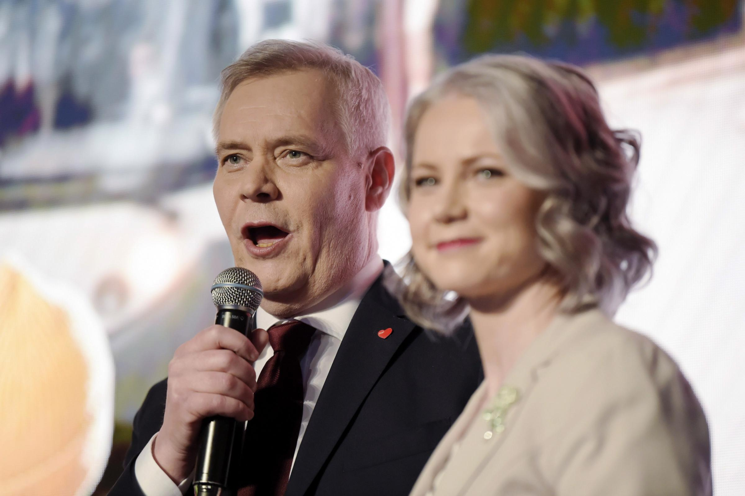 Antti Rinne with his wife Heta Ravolainen-Rinne