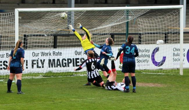 Lisa Toppings' goal is disallowed for Chorley Ladies against Brighouse