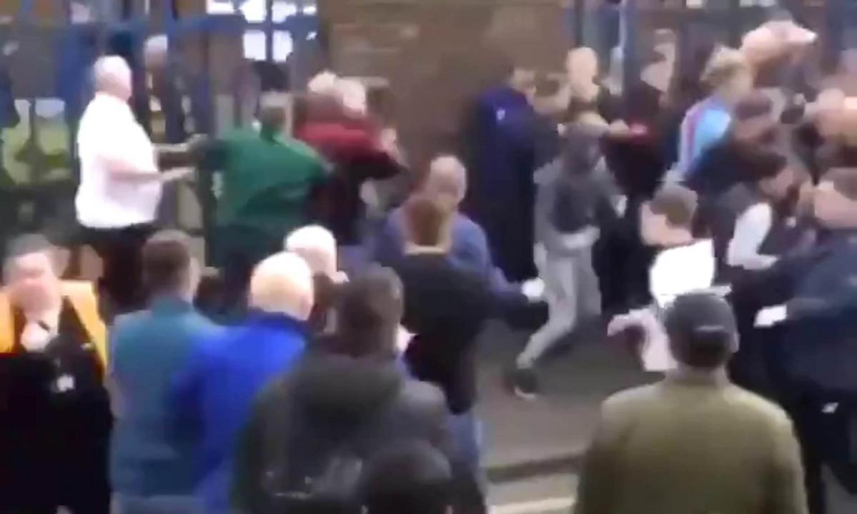 The social media video of the fight.