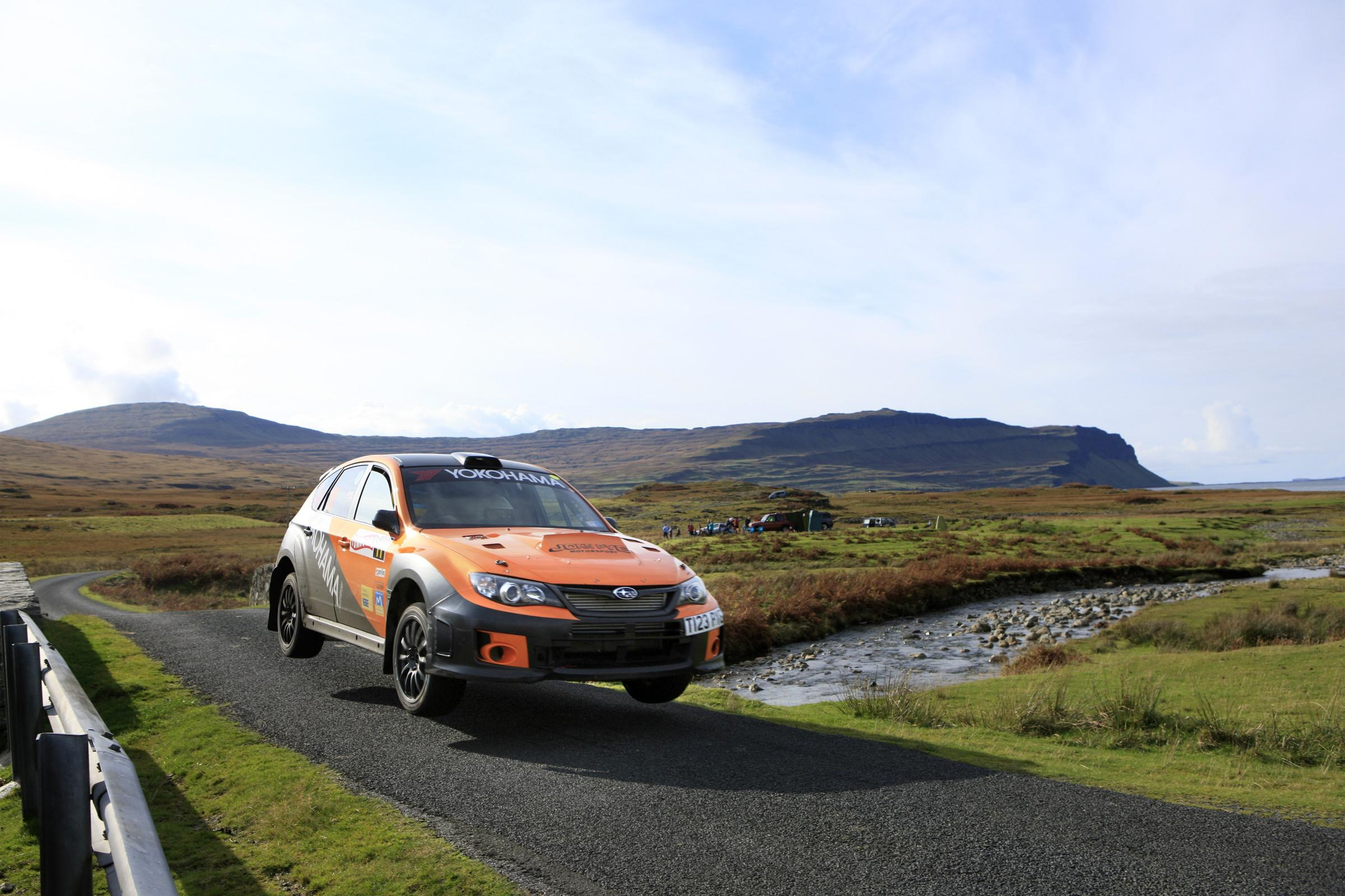 Rally car on Mull