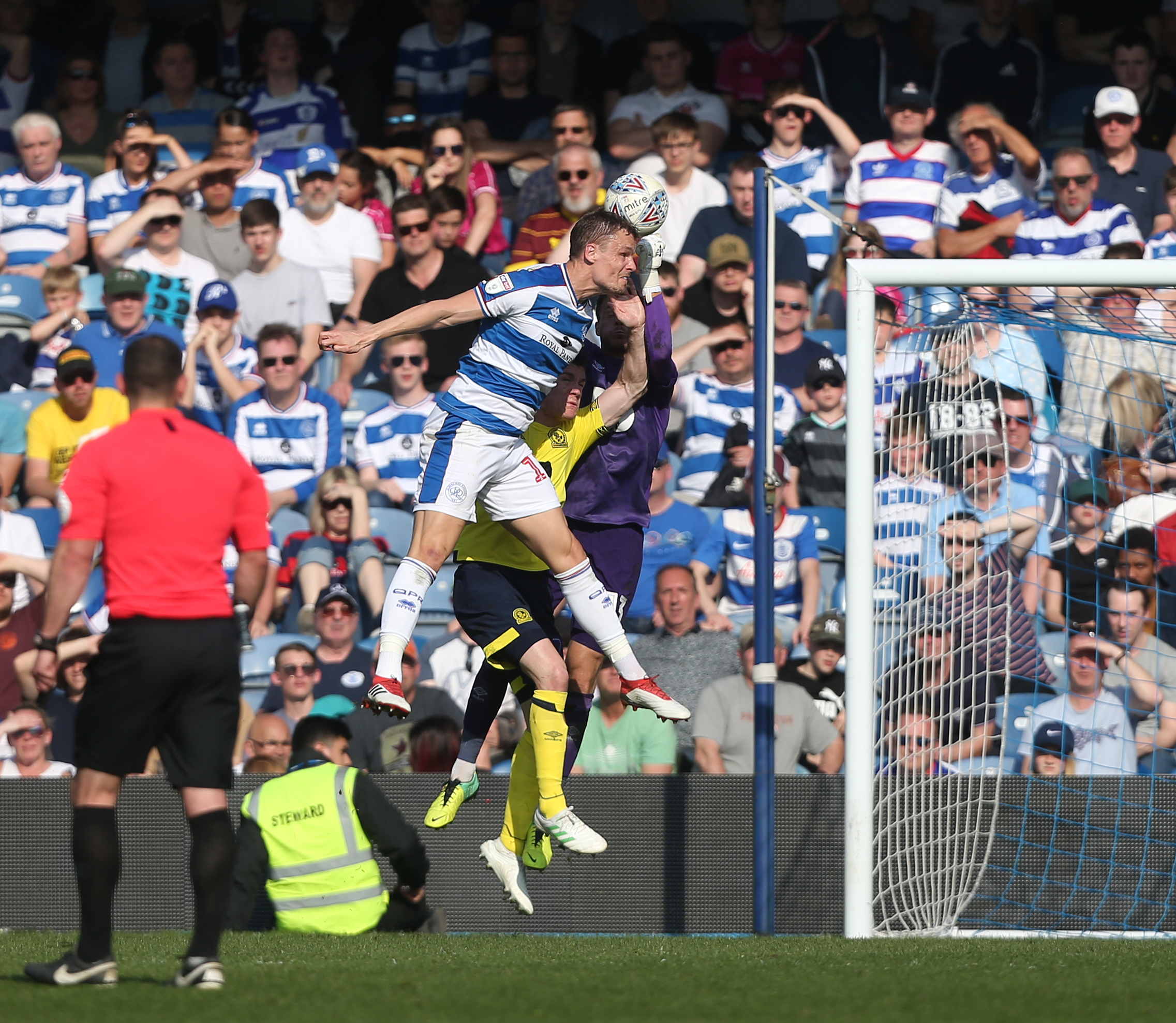Matt Smith headed home a late consolation for  QPR