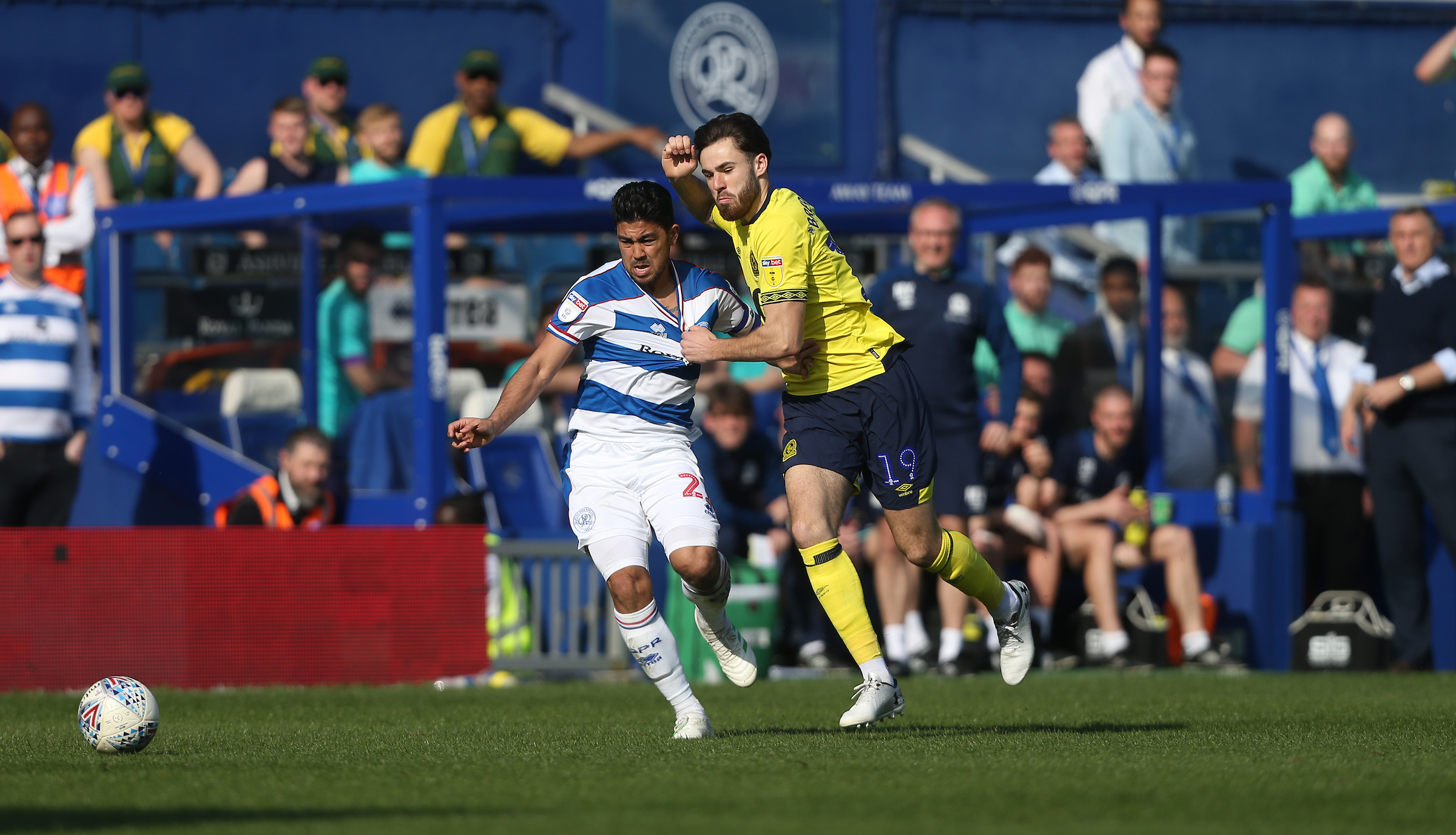 Ben Brereton was used off the bench for Rovers at QPR