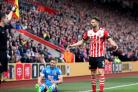 Southampton's Jay Rodriguez appeals to the assistant referee after being flagged for fouling AFC Bournemouth's Simon Francis during the Premier League match at St Mary's, Southampton. PRESS ASSOCIATION Photo. Picture date: Saturday April 1, 20