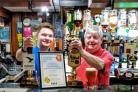 Bar manager Danny McNeillie and Club steward John Freeman