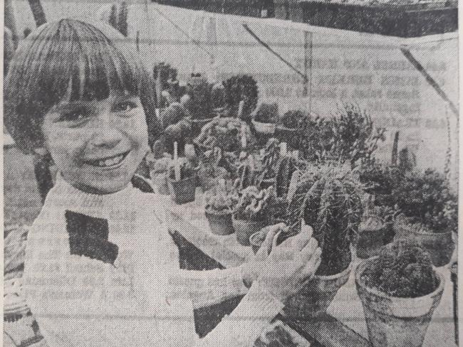 Anthony Butterworth, 10, had a colection of more than 300 cacti