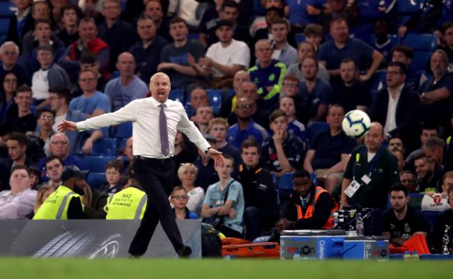 Burnley manager Sean Dyche during the Premier League match at Stamford Bridge, London. PRESS ASSOCIATION Photo. Picture date: Monday April 22, 2019. See PA story SOCCER Chelsea. Photo credit should read: Adam Davy/PA Wire. RESTRICTIONS: EDITORIAL USE ONL