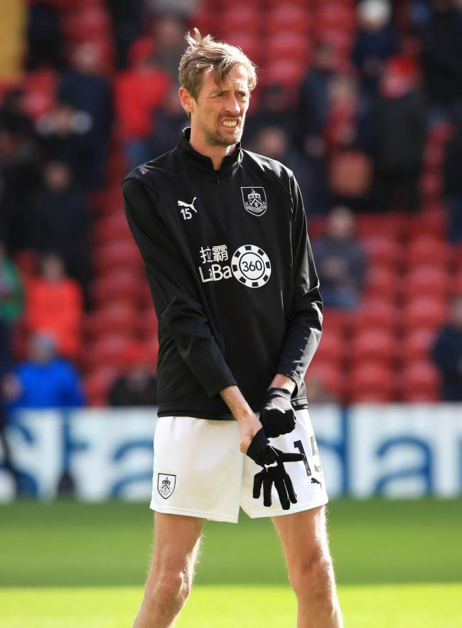 Peter Crouch is in contention for a place in the Burnley squad