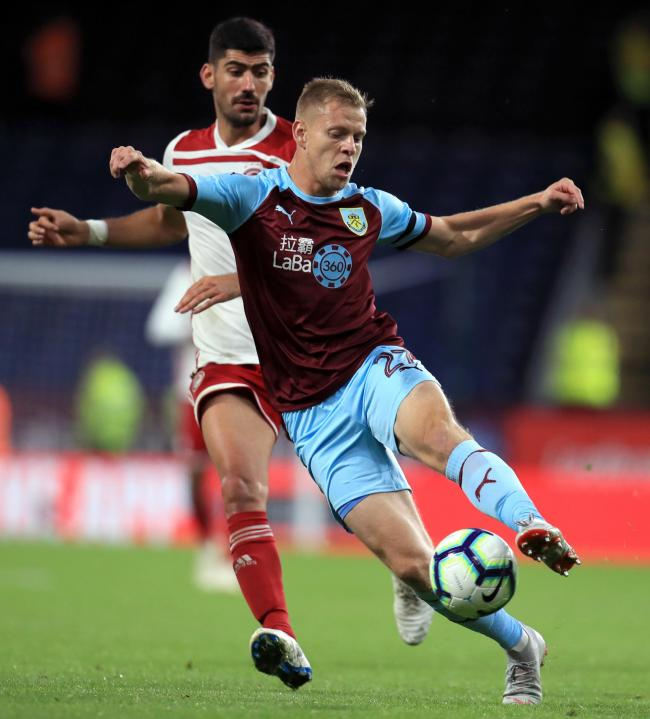 Burnley's Matej Vydra during the UEFA Europa League Play-Off, Second Leg match at Turf Moor, Burnley. PRESS ASSOCIATION Photo. Picture date: Thursday August 30, 2018. See PA story SOCCER Burnley. Photo credit should read: Mike Egerton/PA