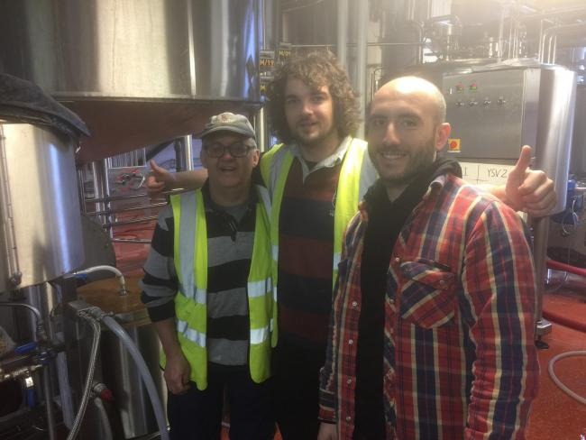 The three brewing amigos: Mark, Jordan Hamer and Carmelo Pillitteri