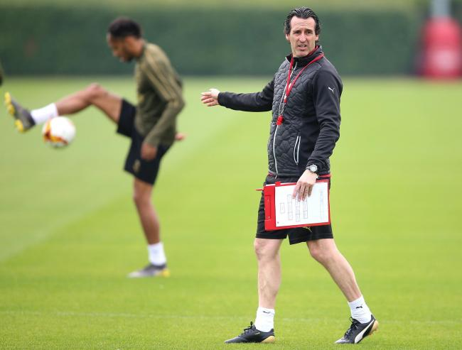 Arsenal manager Unai Emery during the training session at London Colney. PRESS ASSOCIATION Photo. Picture date: Wednesday May 1, 2019. See PA story SOCCER Arsenal. Photo credit should read: Nigel French/PA Wire