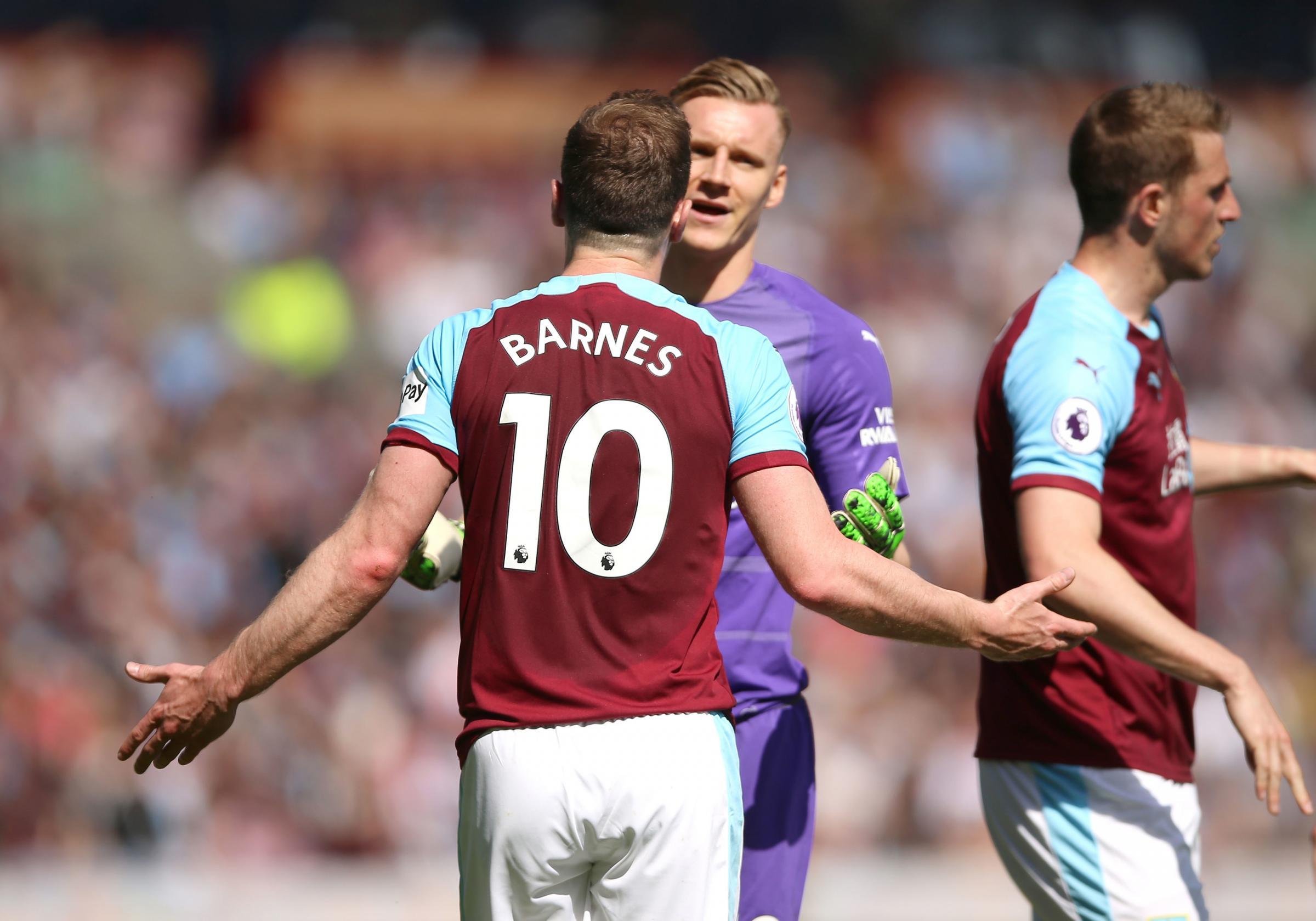 Burnley striker Ashley Barnes' bemusement at Arsenal booking