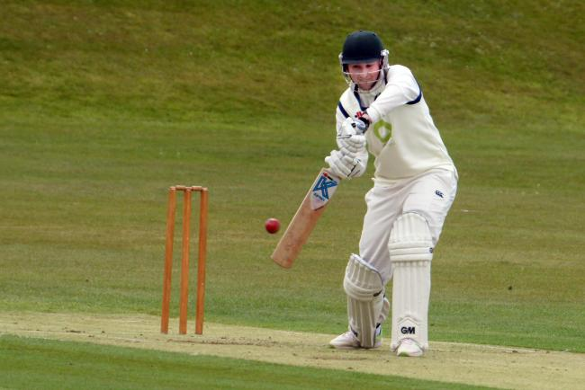 Whalley batsman Declan Bailey in action against Read