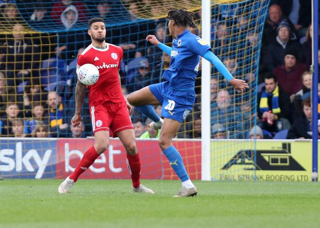 Ben Richards-Everton in action for Accrington Stanley