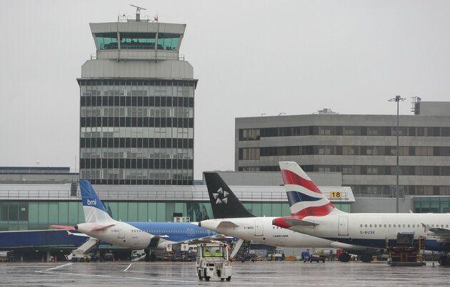Manchester Airport expect more disruption today. Press Association picture.