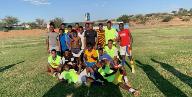 Ryan Nyambe is back in his homeland, Namibia, ahead of the AFCON tournament