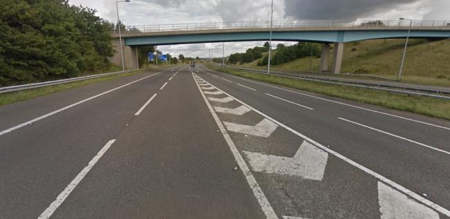 M65 junction 6 eastbound carriageway