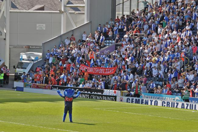 Rovers supporters show their support for Tugay. PIC: Ian Herbert
