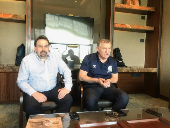 Steve Waggott and Tony Mowbray travelled to India in the summer to meet the owners