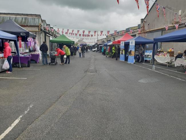 The stalls at the Ribchester Flag Day