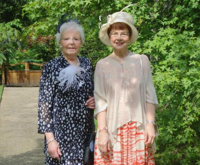 The Magdalene Project Co-founder Irene Alderson and Project Director, Pauline Ellison at the Royal Garden Party