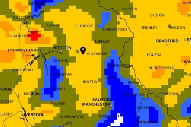 Heavy rain set for East Lancs