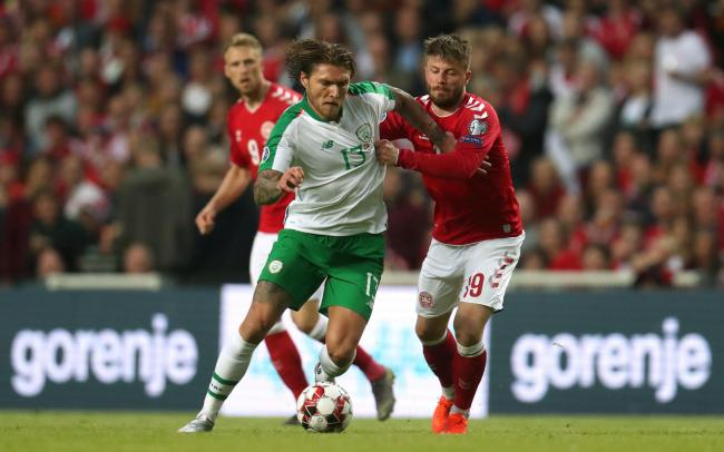 Jeff Hendrick in action in Denmark