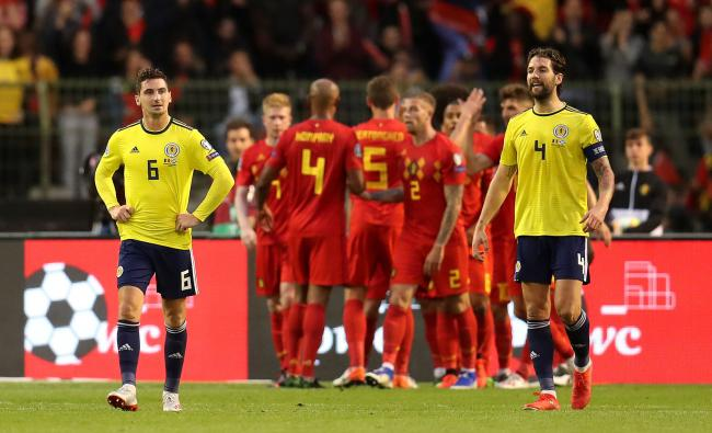 Charlie Mulgrew captained Scotland in their 3-0 defeat against Belgium