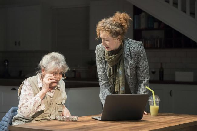 Margot Leicester and Alex Kingston in Admissions (Picture: Johan Persson)