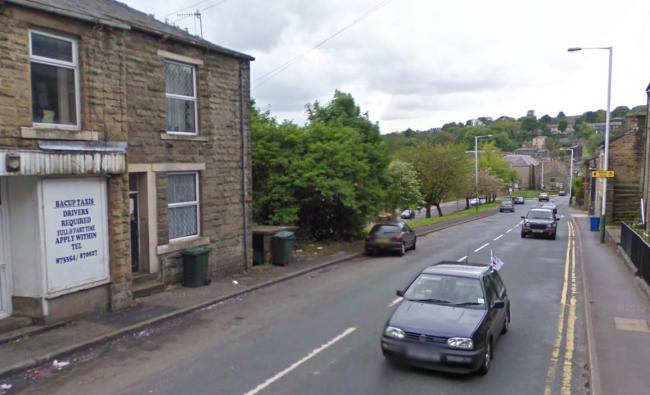 CRASH: The incident took place in Todmorden Road in Bacup.